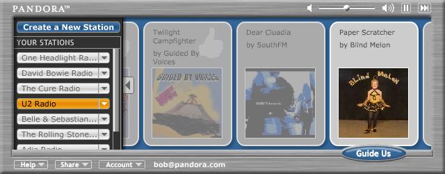 Pandora Music Discovery Service