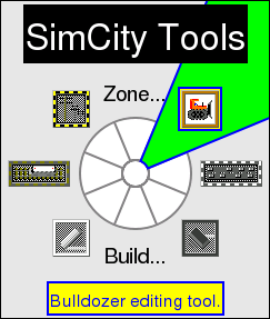 SimCity Zone Pie Menu by Don Hopkins